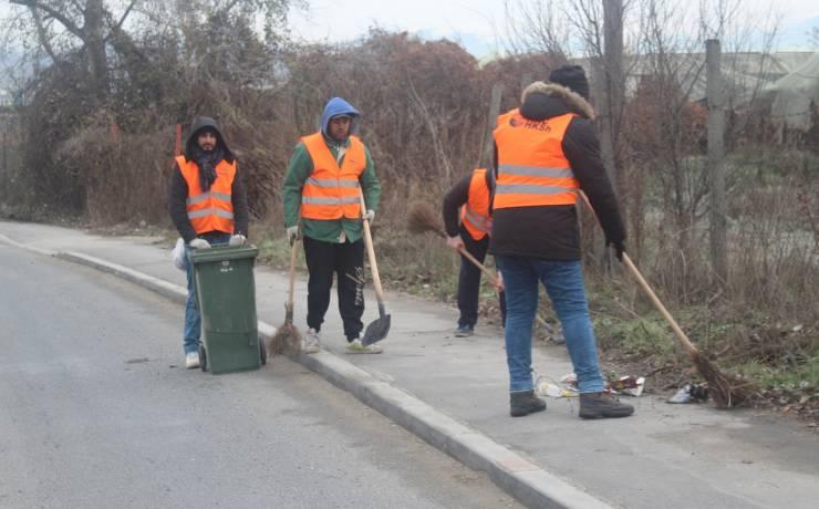 Pastrimi i rrugës kryesore në Saraj