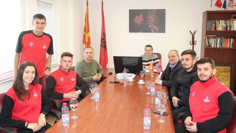 Sekretari i komunës së Sarajit Sefi Shabani, priti në takim përfaqsuesit e klubit të atletikës ''LIRIA''